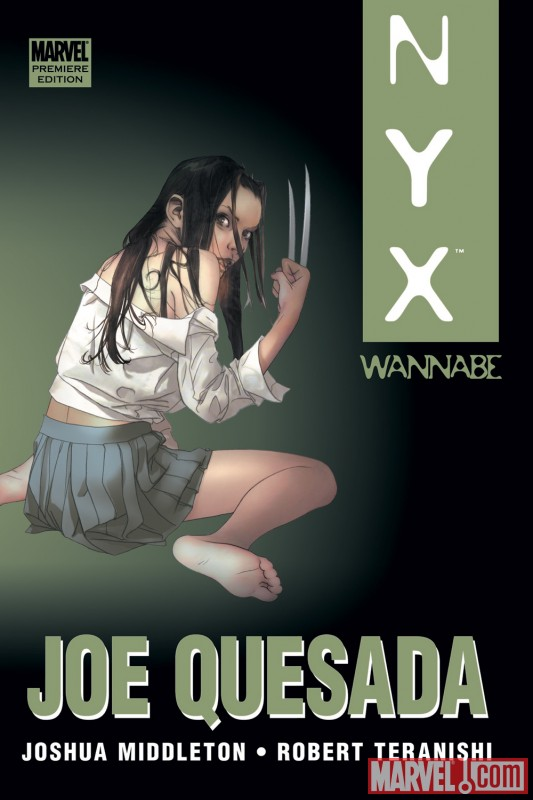 NYX: WANNABE Premiere Edition Hardcover cover by Joshua Middleton