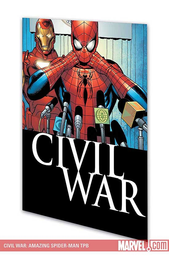 CIVIL WAR: AMAZING SPIDER-MAN COVER