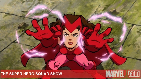 "The Scarlet Witch in action in ""The Super Hero Squad Show"""