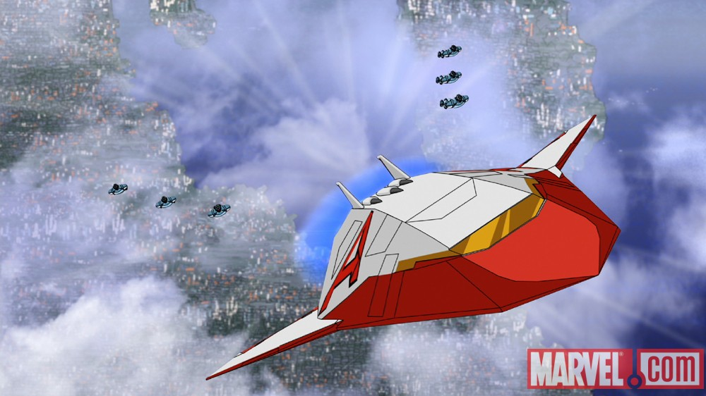 The Avengers take flight in The Avengers: Earth's Mightiest Heroes!