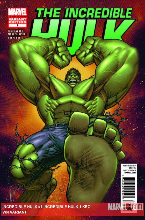 INCREDIBLE HULK 1 KEOWN VARIANT