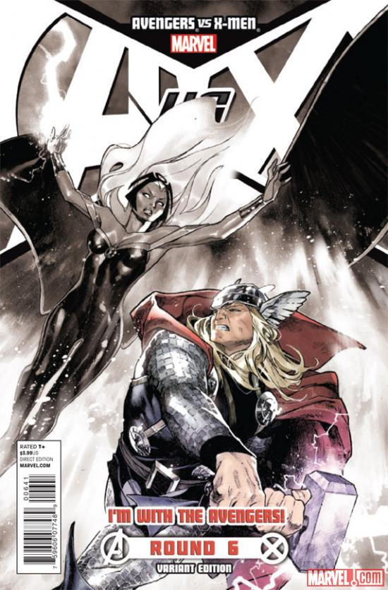 Avengers VS X-Men #6 Team Avengers variant cover by Olivier Coipel