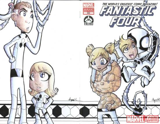 Fantastic Four #600 Hero Initiative variant cover by Agnes Garbowska