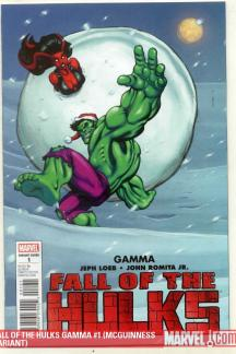 Fall of the Hulks Gamma (2009) #1 (SANTA-HULK MCGUINNESS VARIANT)
