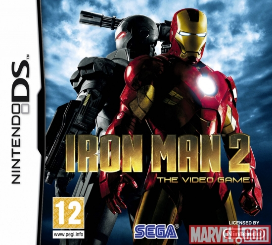 Iron Man 2: The Video Game DS European box art