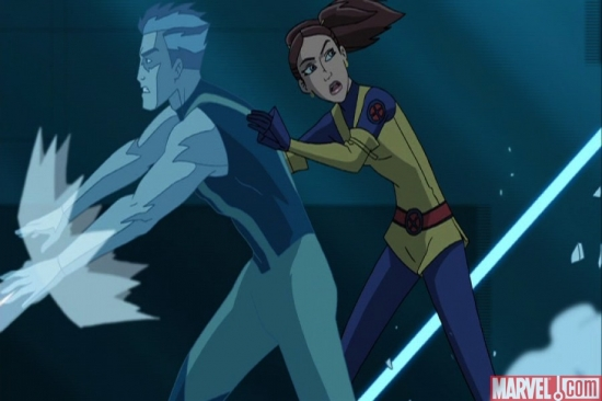 Iceman and Kitty Pryde