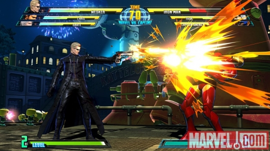 Wesker vs. Iron Man in Marvel vs. Capcom 3