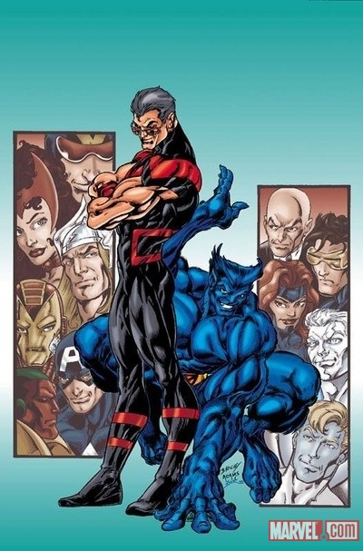 Wonder Man & Beast by Mark Bagley