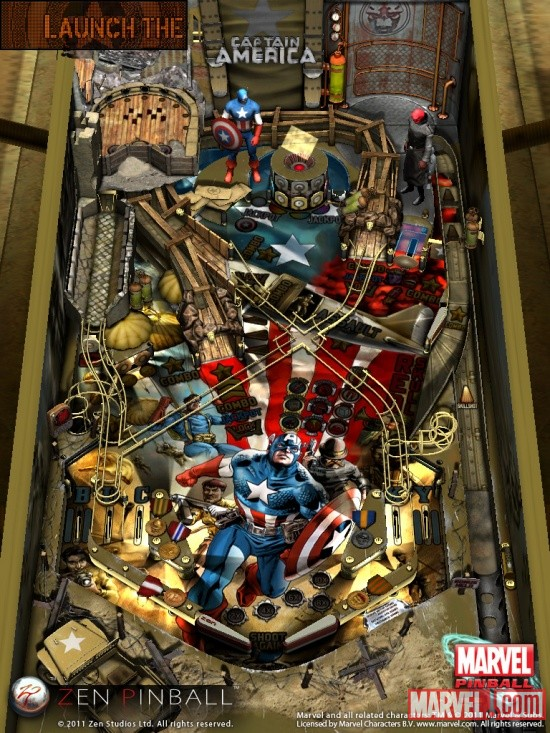 Captain America table for Zen Pinball on iPad