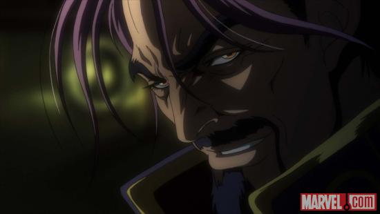 Screenshot of Mastermind from the X-Men anime