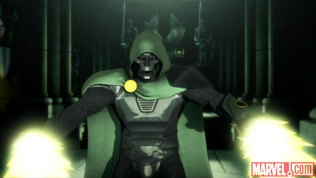Screenshot of Doctor Doom from Season 2, Ep. 20
