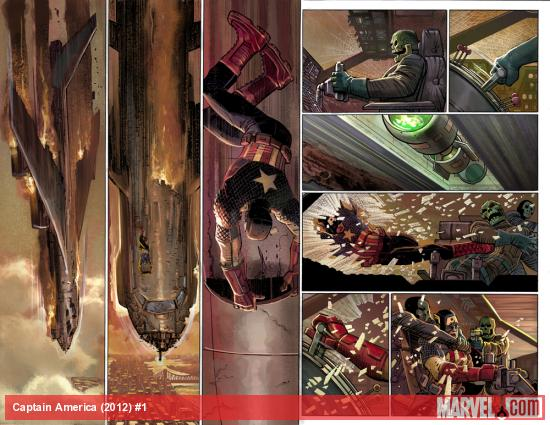 Captain America (2012) #1 preview art by John Romita Jr., Klaus Janson &amp; Dean White