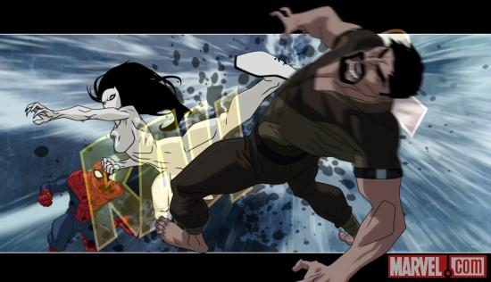 White Tiger & Spidey face Kraven in Ultimate Spider-Man