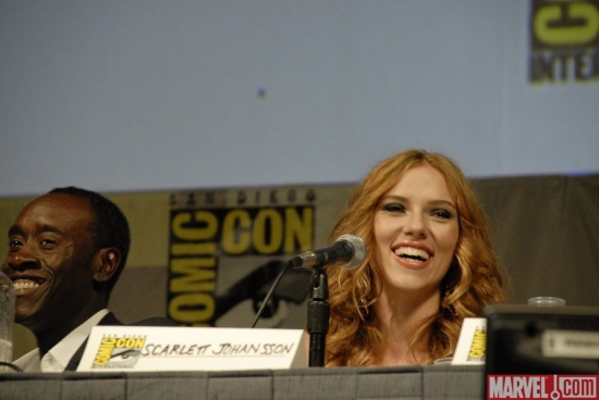 Cheadle and Johansson at the IM2 Panel