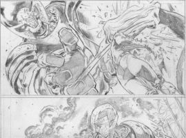 HOUSE OF M: MASTERS OF EVIL pencil art by Manuel Garcia