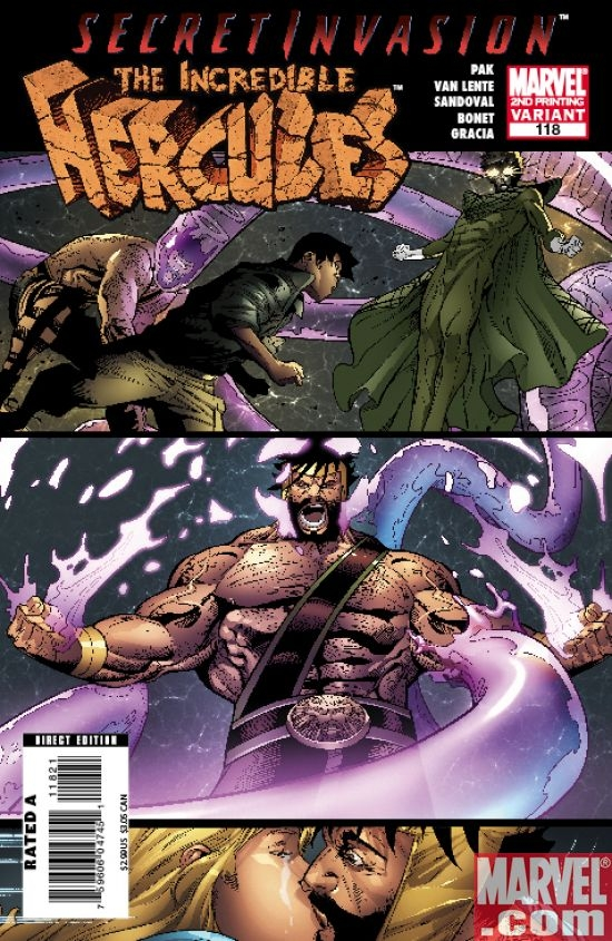 INCREDIBLE HERCULES #118 (2nd printing var.)