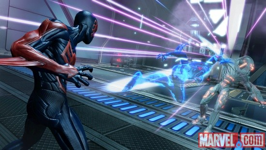 Screenshot of Spider-Man 2099 from Spider-Man: Edge of Time