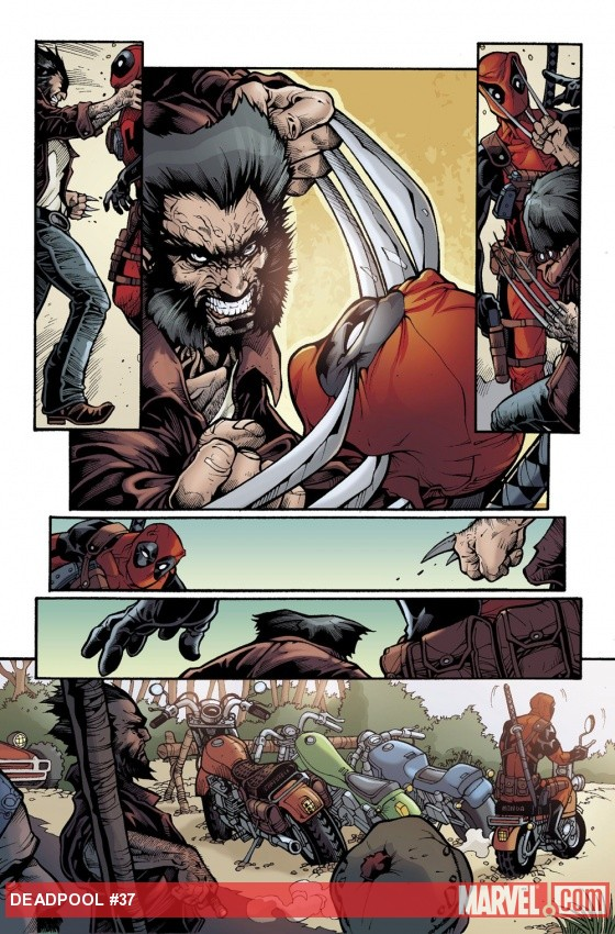 Deadpool (2008) #37 preview art by Bong Dazo