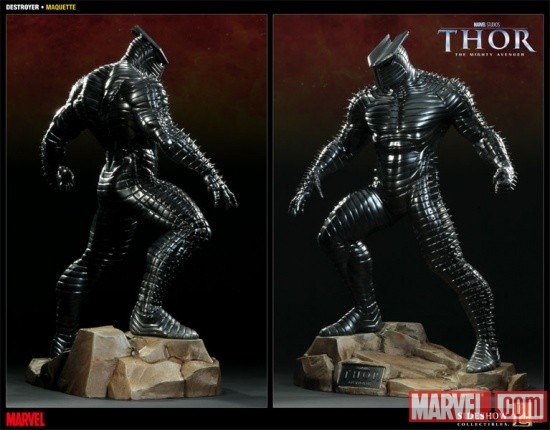 Thor and Destroyer From Sideshow Collectibles