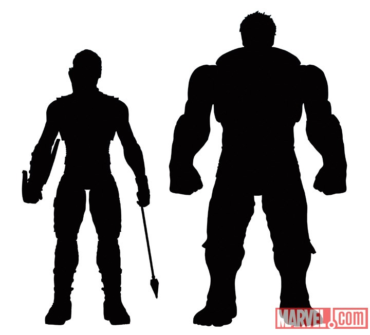 Hawkeye & Hulk Marvel Select figures from Marvel's The Avengers