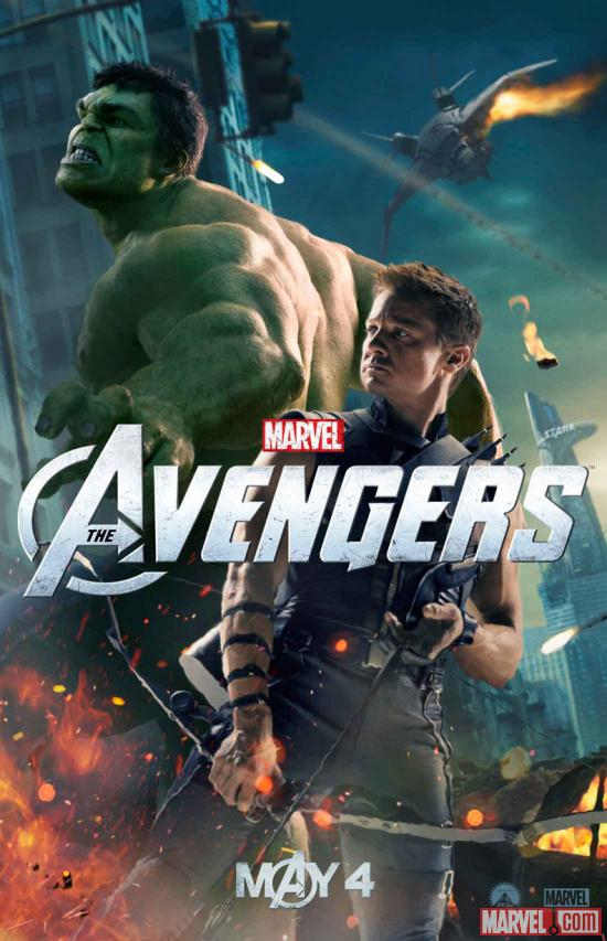 "New ""Marvel's The Avengers"" poster featuring The Hulk & Hawkeye"
