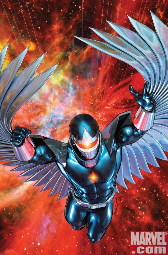 WAR OF KINGS: DARKHAWK #1 cover by Brandon Peterson