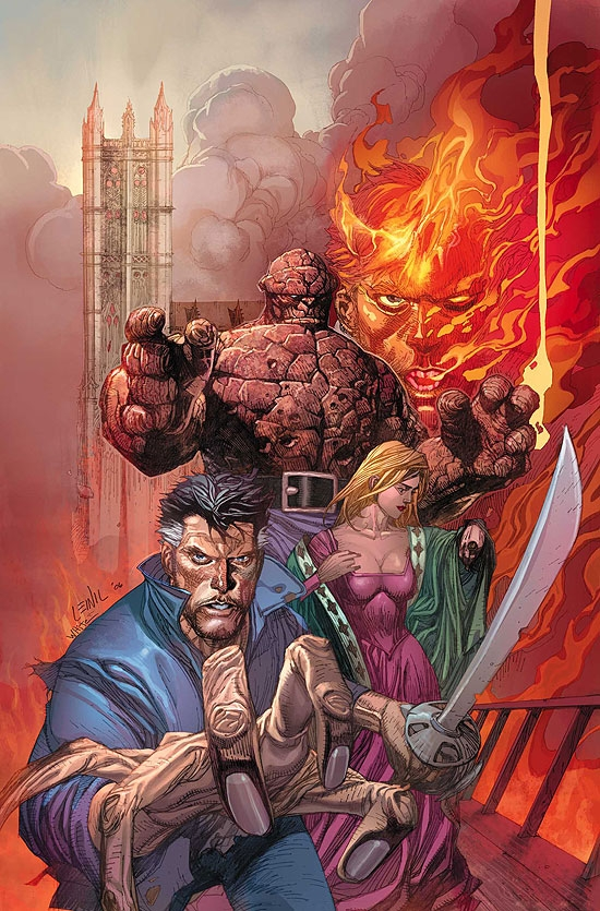 MARVEL 1602: FANTASTICK FOUR (2008) #1 COVER