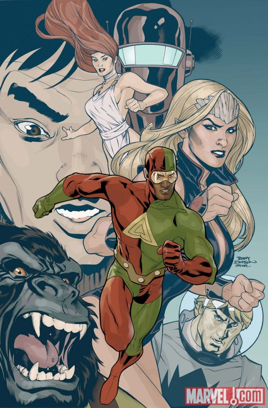 Image Featuring Namora, Human Robot, Gorilla Man, Triathlon, Jimmy Woo, Venus (Siren)
