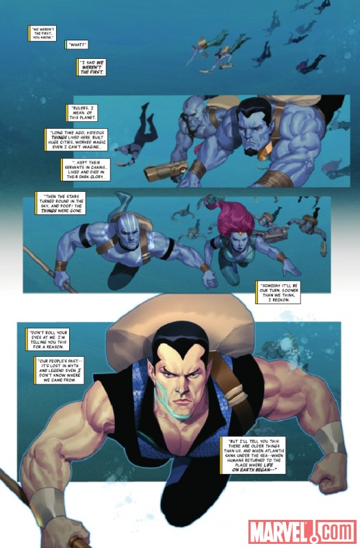 NAMOR: THE FIRST MUTANT #3 preview page by Ariel Olivetti
