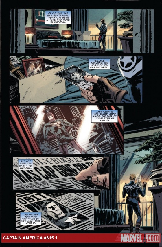Captain America #615.1 preview art by Mitch Breitweiser