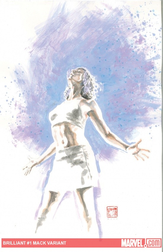 Brilliants #1 variant cover by David Mack