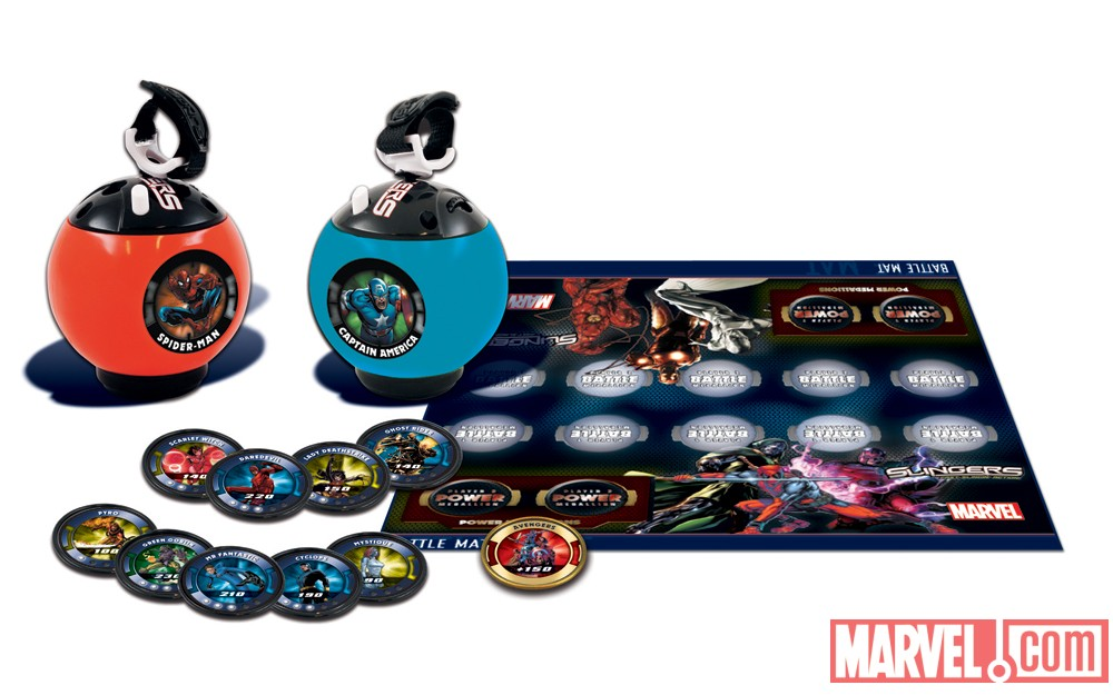 Marvel Slingers Battle Pack contents