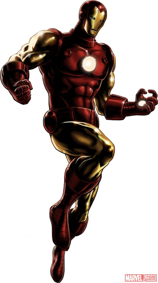 Iron Man character model from Marvel: Avengers Alliance