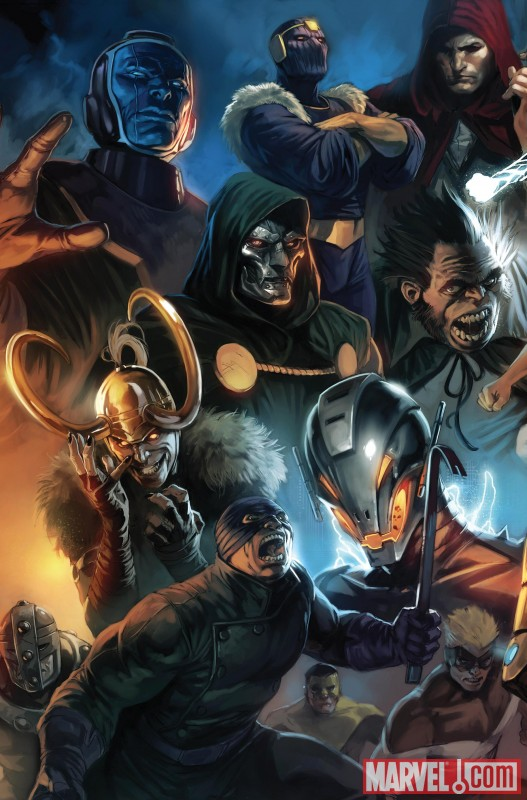Image Featuring Doctor Doom, Kang, Loki, Ultron, Mr. Hyde, Wrecking Crew, Wrecker