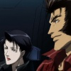 Wolverine and Yukio in flight in the Wolverine anime