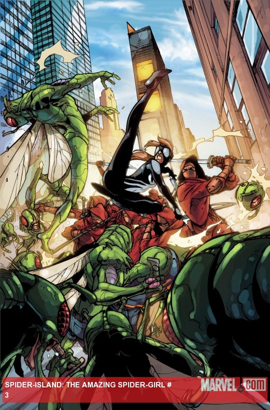 Spider-Island: The Amazing Spider-Girl #3 preview art by Pepe Larraz