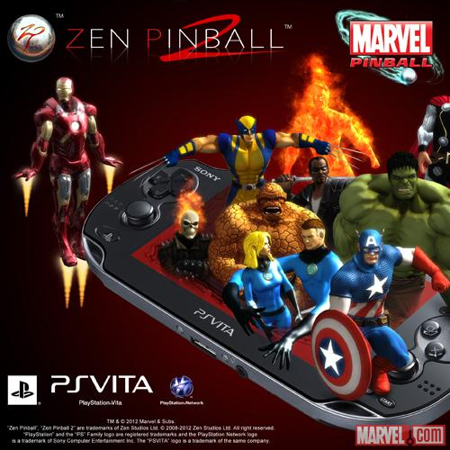 Marvel Pinball on PS Vita