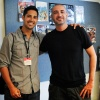 Gio Gonzalez with Marvel EIC, Axel Alonso
