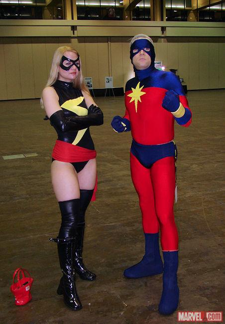 Marvel Cosplay: Ms. Marvel & Marvel Boy at Megacon