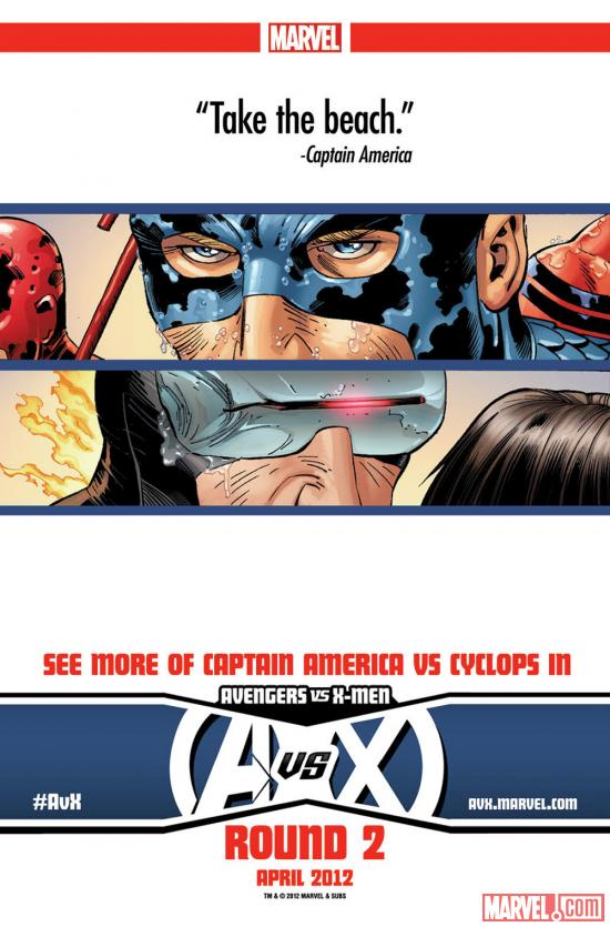Avengers Vs. X-Men: Captain America Vs. Cyclops teaser by John Romita Jr.