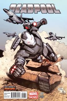 Deadpool #7  (Tan Iron Man Many Armors Variant)