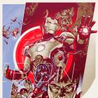 Marvel's Iron Man 3 variant poster by Martin Ansin for Mondo