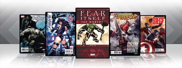 Marvel iPad/iPod App: Latest Titles 5/25/11