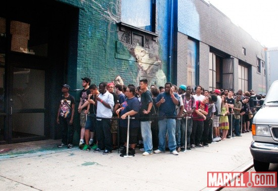 The line outside Capcom's New York Fight Club
