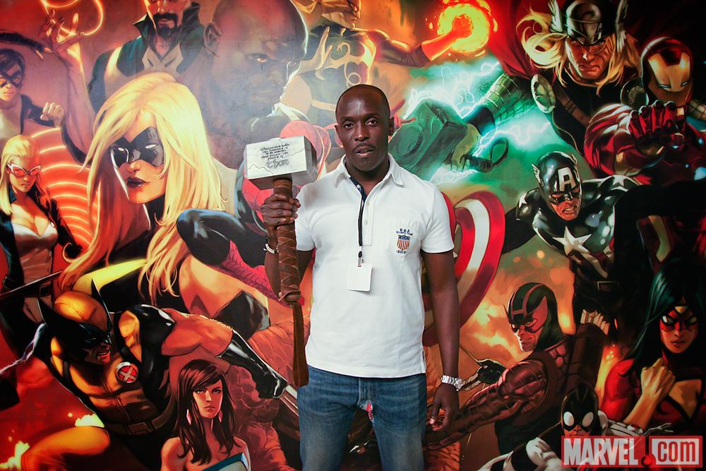 Actor Michael K. Williams at Marvel Headquarters in NYC