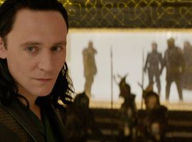 Loki (Tom Hiddleston) stands in his prison cell in Marvel's Thor: The Dark World