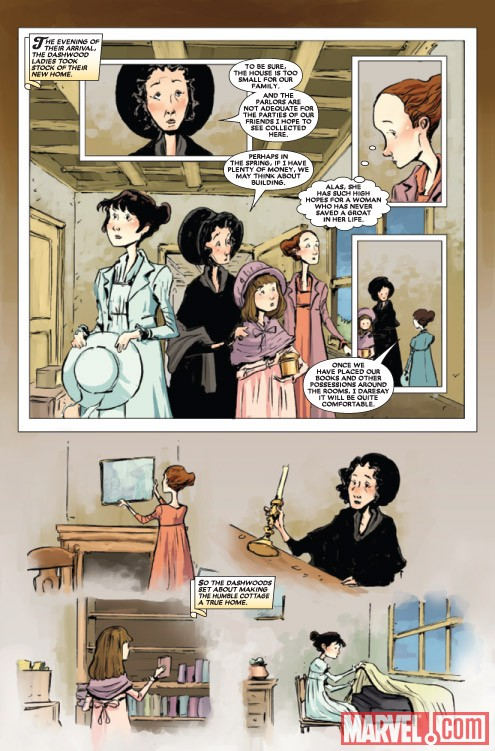 SENSE &amp; SENSIBILITY #2 preview art by Sonny Liew
