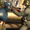 Captain America takes on a sniper in Captain America: Super Soldier
