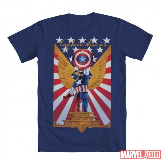 Cap Eagle Tee by Mighty Fine