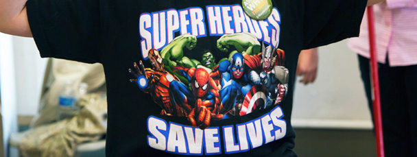 Super Heroes Save Lives